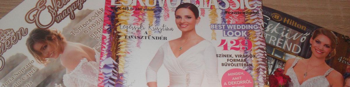 Legyen tied a három esküvői magazin egyike!